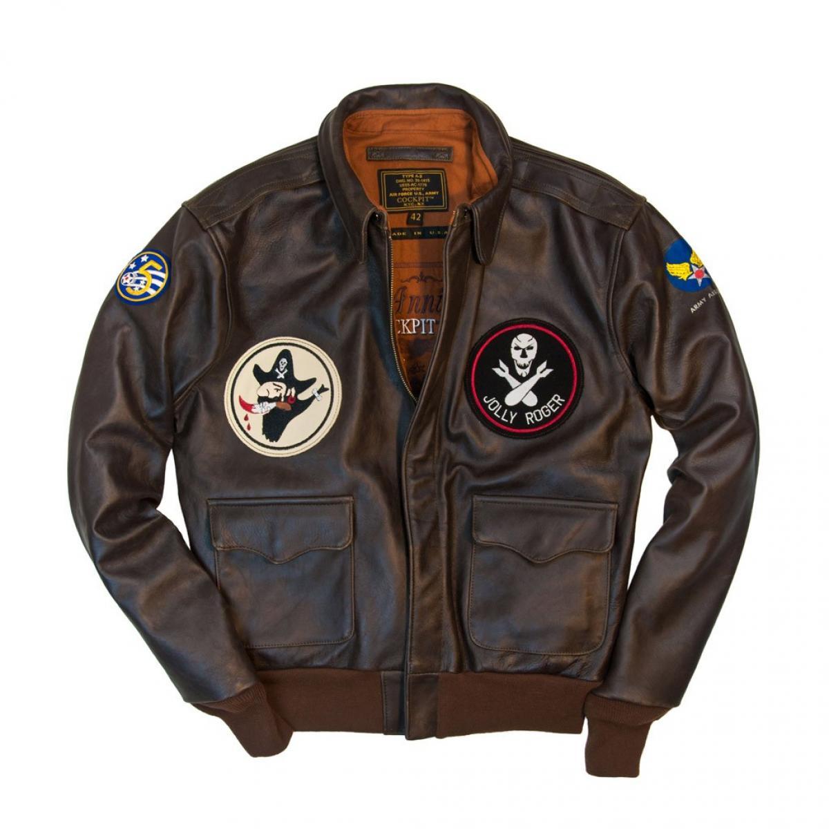 Chaqueta Piloto. 40th Anniversary Bottoms Up A-2 Pinup Jacket