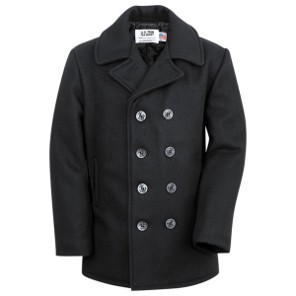 Abrigo Marinero Schott <br>New York<br> U.S. 740N PEA JACKET WOOL