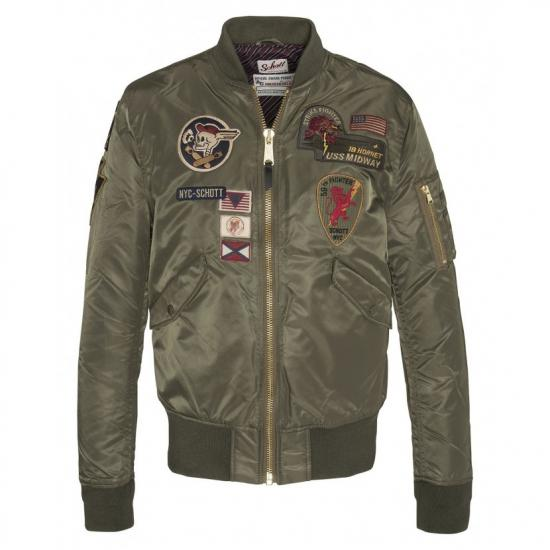 CAZADORA BOMBER MA-1 WITH PATCHES.