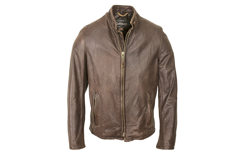 Vintaged Cowhide Café Racer Jacket